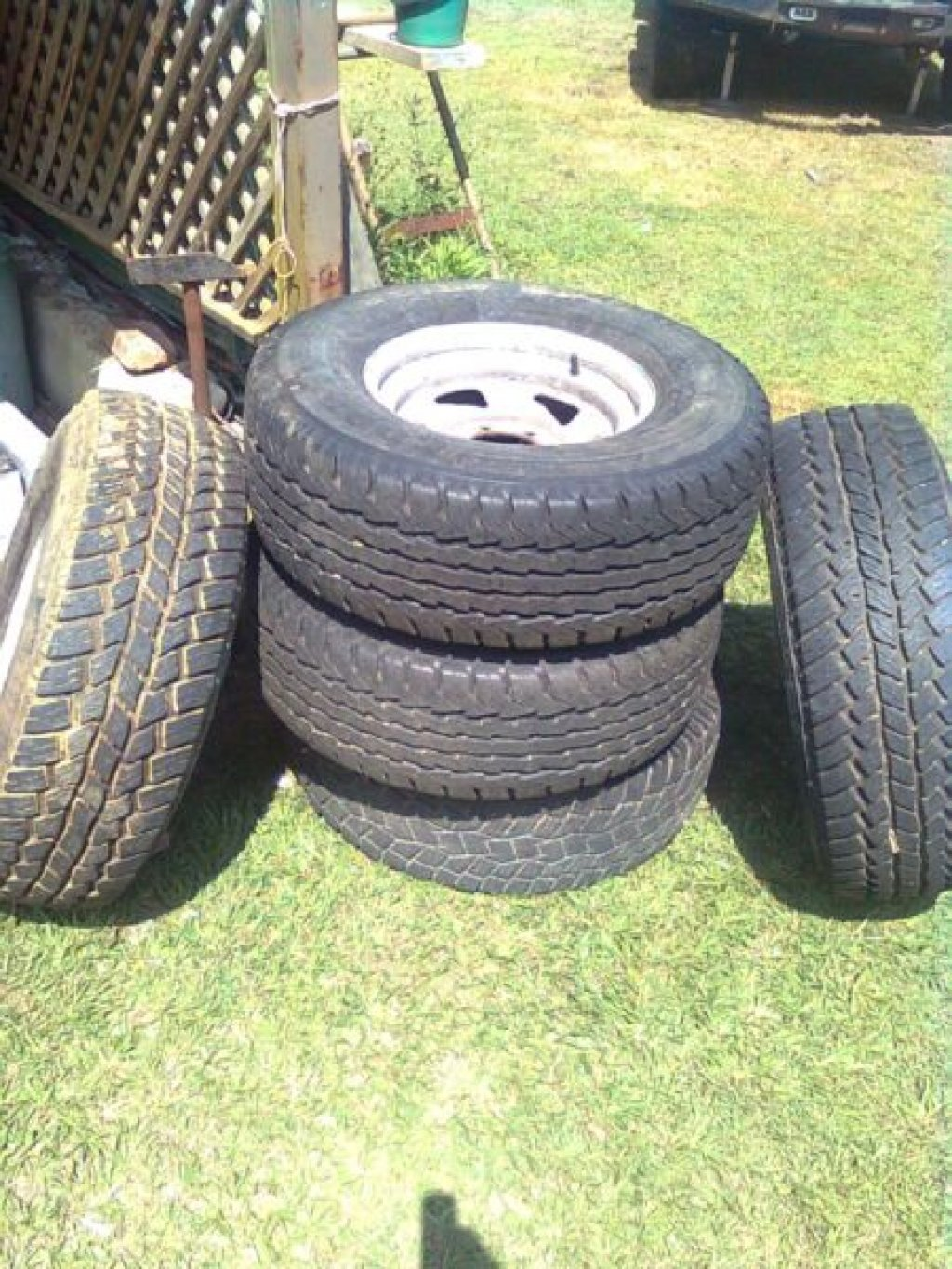 5 Galvanised 6 Stud Nissan Rims and Tyres