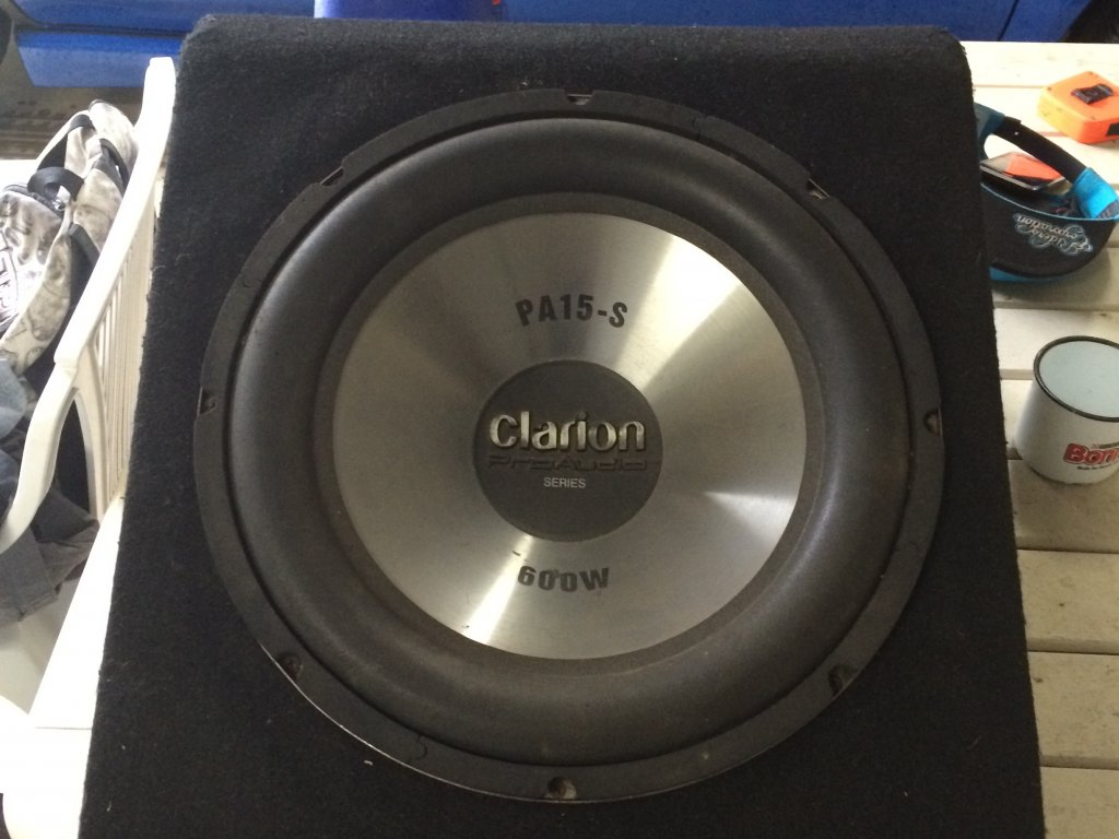 600W SUB and AMP Clarion PA15-S