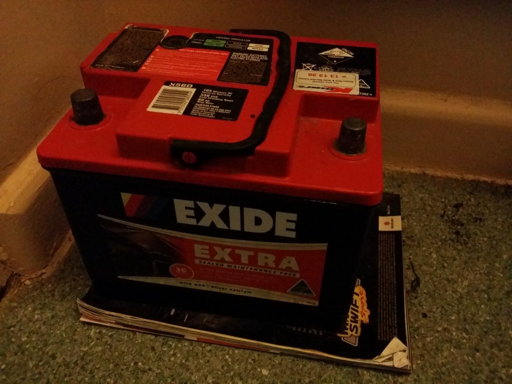 Exide Battery X56D  550CCA - Less Than 6 Months Old