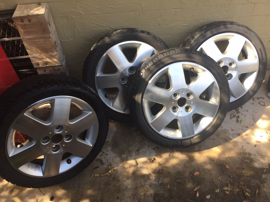 SET of 15x4.5 4x100 -45 Offset Wheels With Tyres - Off a Diahatsu