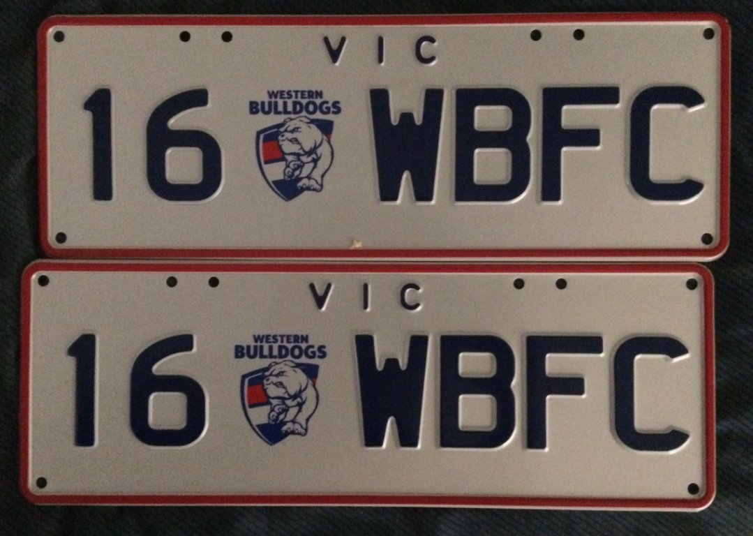 16WBFC Bulldogs VIC Number Plates