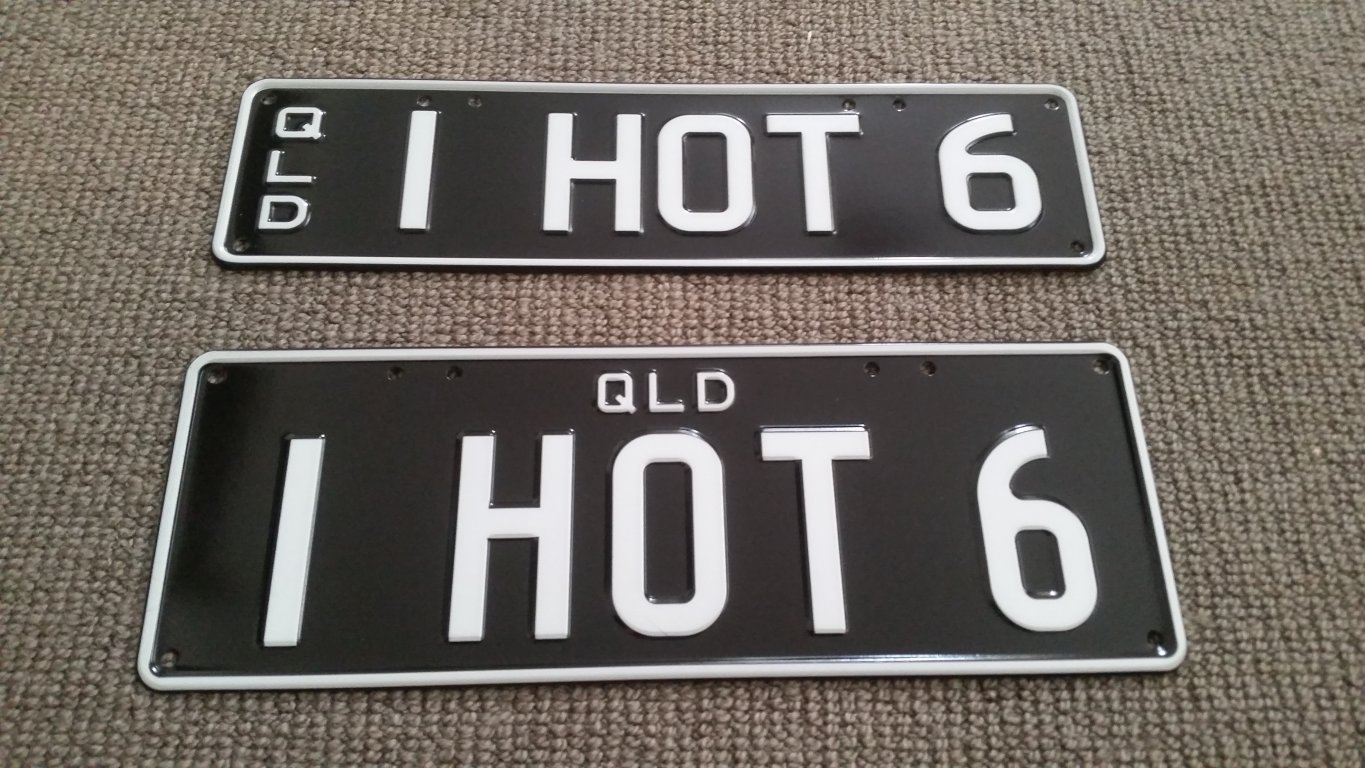 "[QLD] ""1 Hot 6"" Plates For Sale. New Combination!"