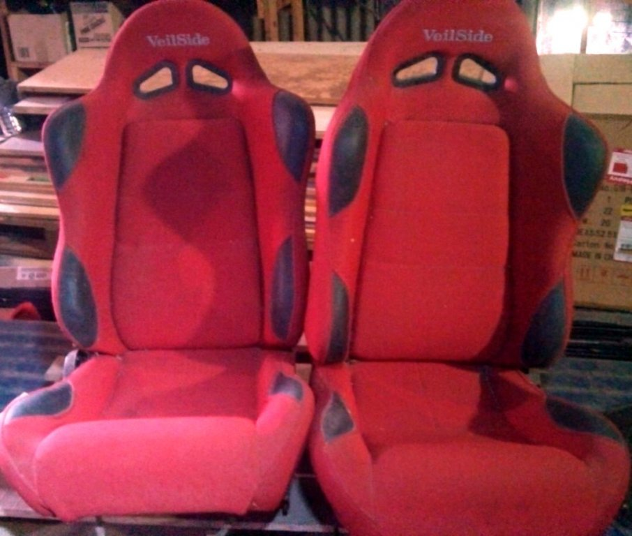 Veilside Reclining Seats, PAIR With Rails