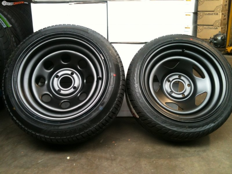 Automotive Rims And Wheels >> O1g Steel Wheels - Great Offsets And Width! - BoostCruising